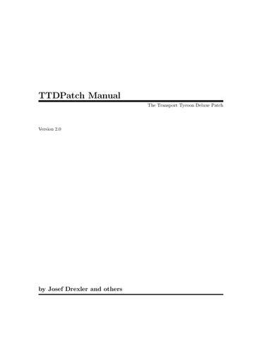 Manual de TTDPatch by Fuckyoumother Motherfucker - issuu