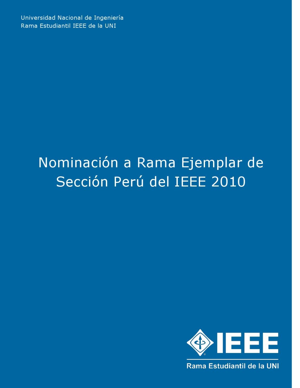 Informe rama Ejemplar IEEE UNI by REIEEE UNI - issuu
