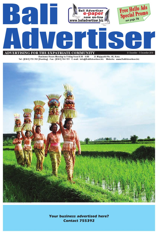 Ba 1 December 2010 By Bali Advertiser Issuu Vera Cell Voucher Indomaret Shop