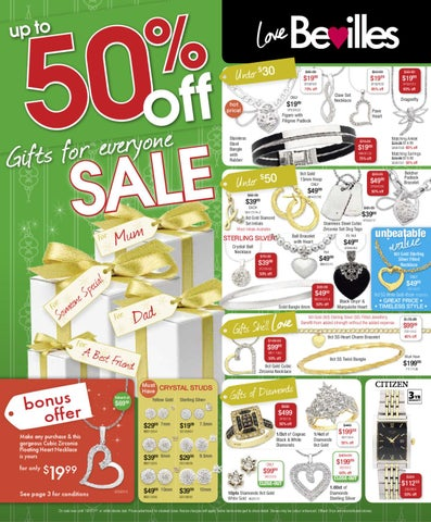 Bevilles Jewellers Up to OFF Gifts For Everyone by Bevilles
