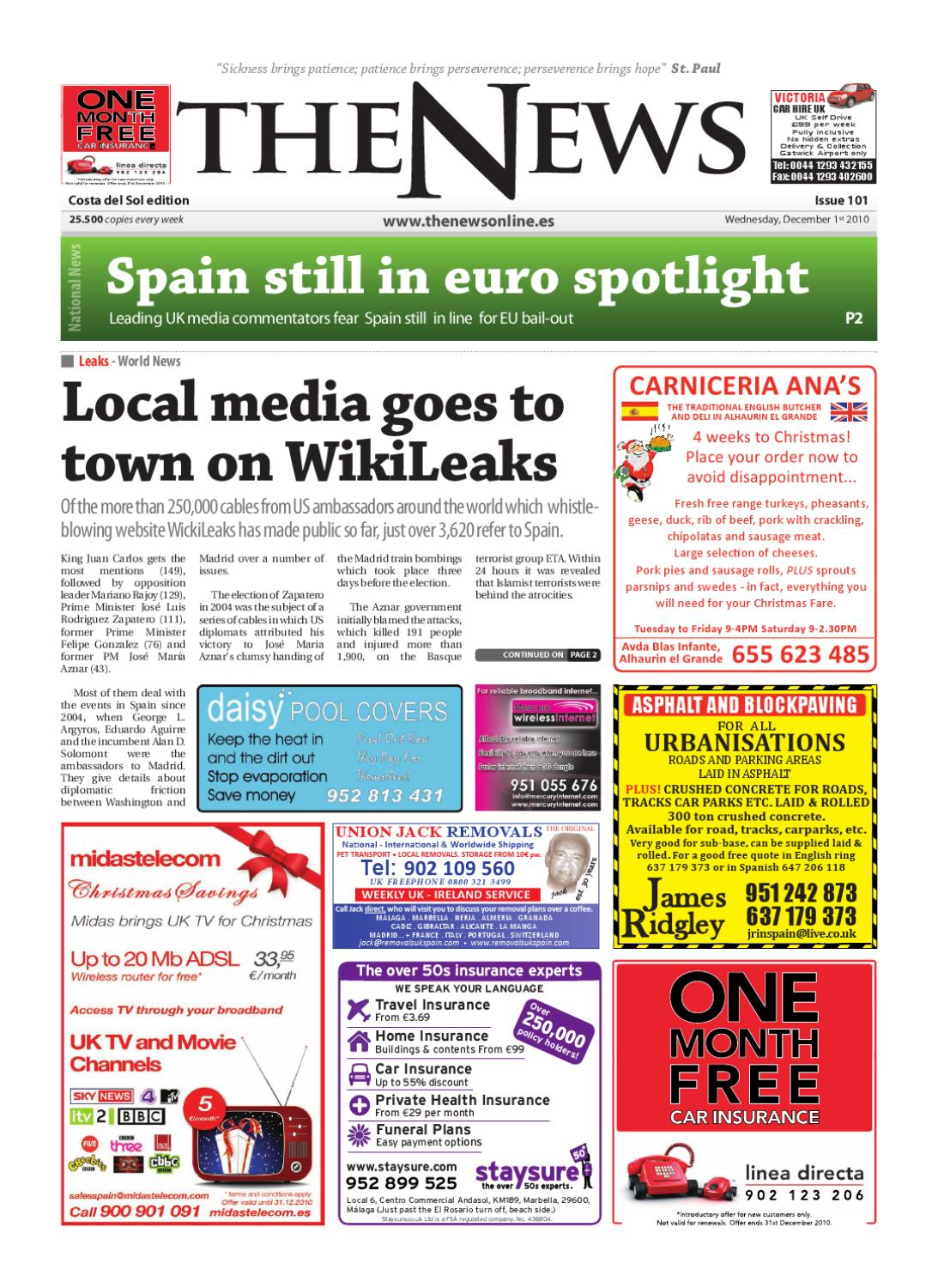 The News Newspaper - Issue 101 (1st December 2010) by The