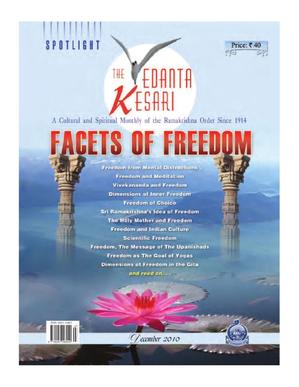 The Vedanta Kesari 2010 Issue by Sri Ramakrishna Math