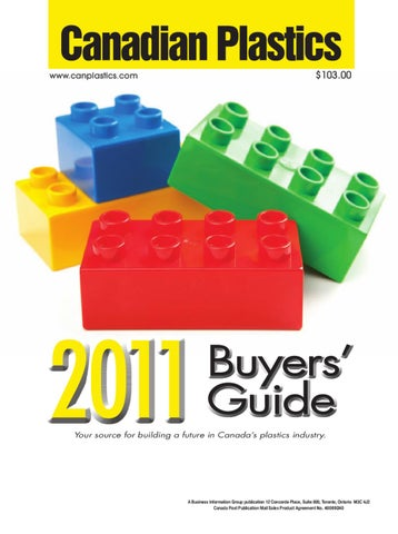 Canadian Plastics Buyers' Guide 2011 by Annex Business Media