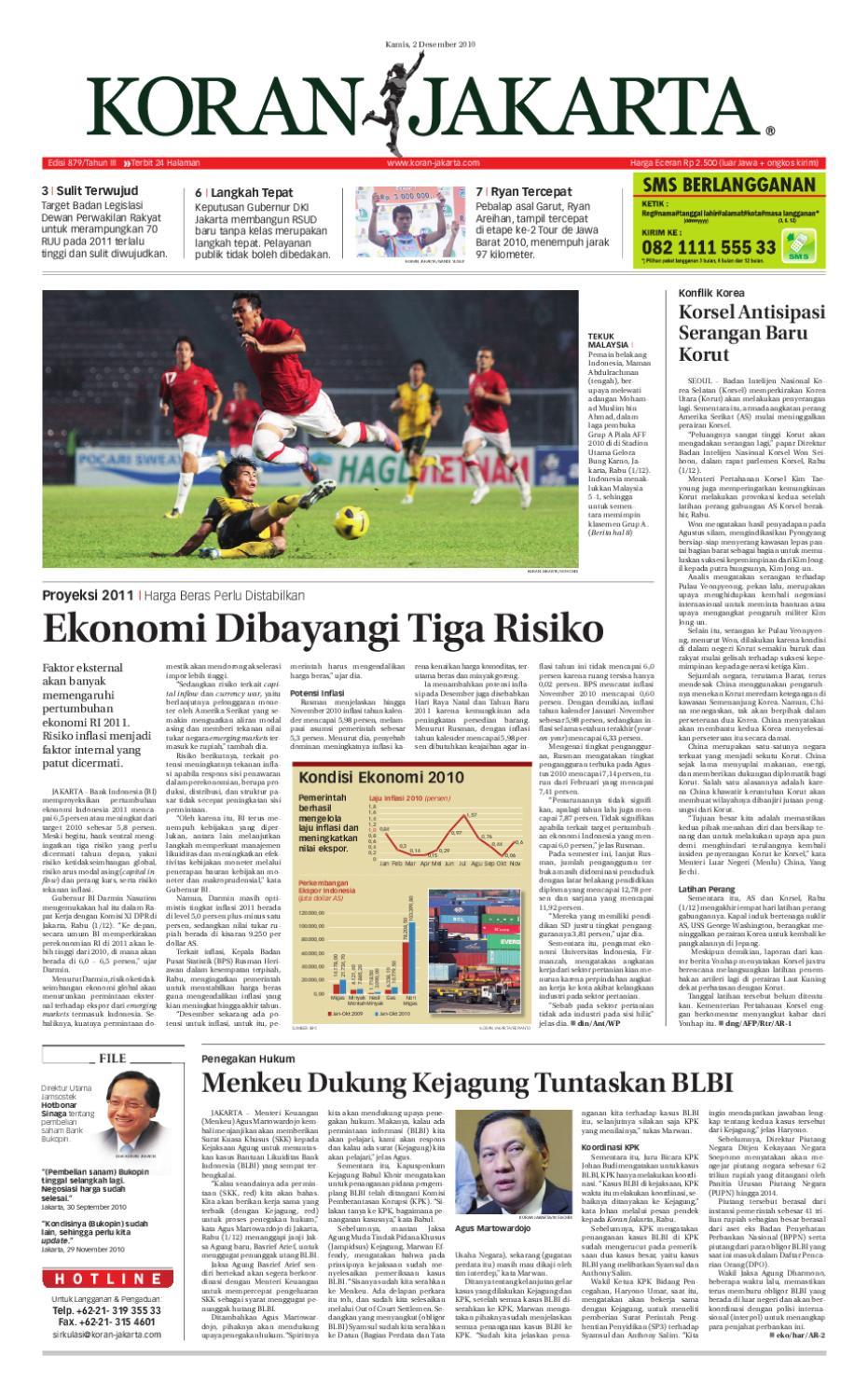 Edisi 879 2 Desember 2010 By Pt Berita Nusantara Issuu Tcash Vaganza 37 Kran Tembok Kuningan Tr 5j F