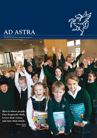 bbe611297993 Ad Astra No.118 June 2010 by Geelong College - issuu
