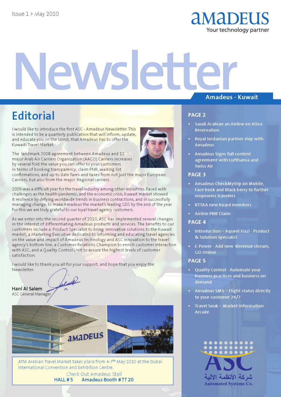 ASC Amadeus Kuwait Newsletter #1