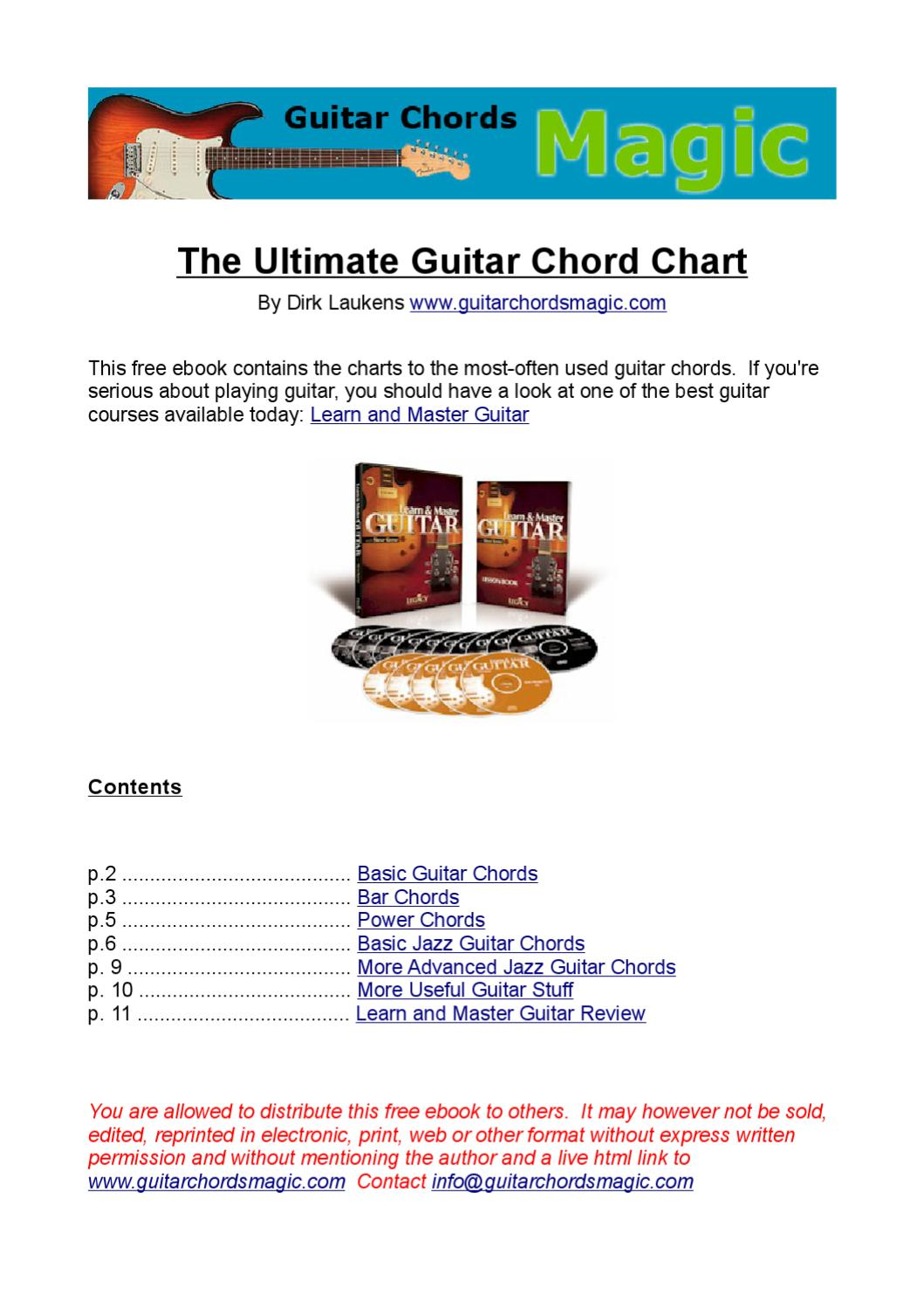 Chords At A Guitar By Criss Makridimitris Issuu
