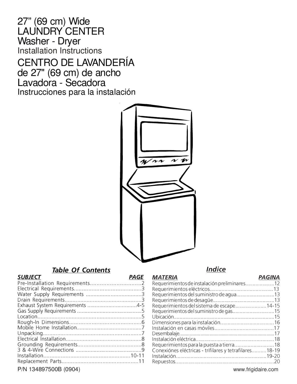 Instrucciones instalacion centro de lavado vertical 14 kgs - Mueble para lavadora y secadora ...