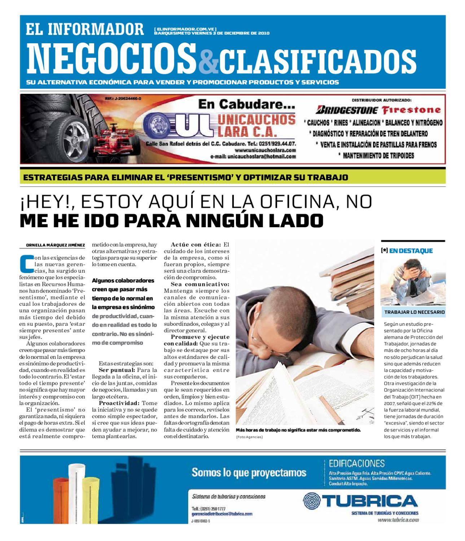 negocios y clasificados 2010 12 03 by El Informador Diario online