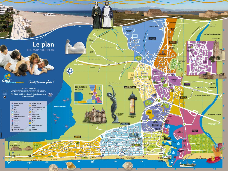Plan de ville by canet roussillon issuu - Office du tourisme de canet en roussillon 66140 ...