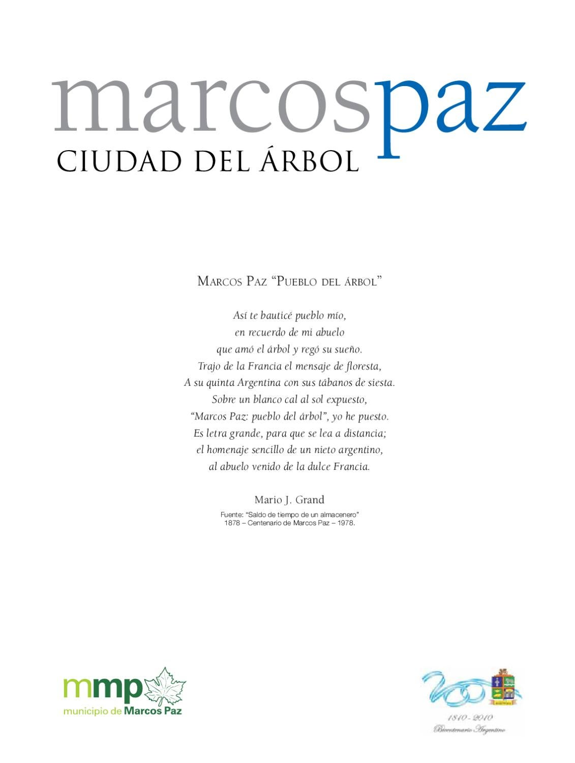 Marcos Paz Ciudad del Arbol by Sebastian Stupenengo - issuu