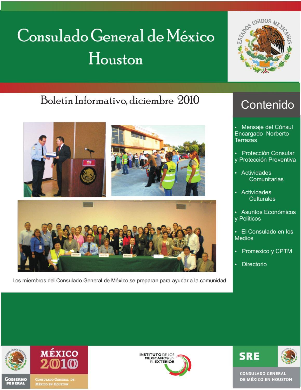 Boletin Informativo del Consulado de Mexico en Houston by