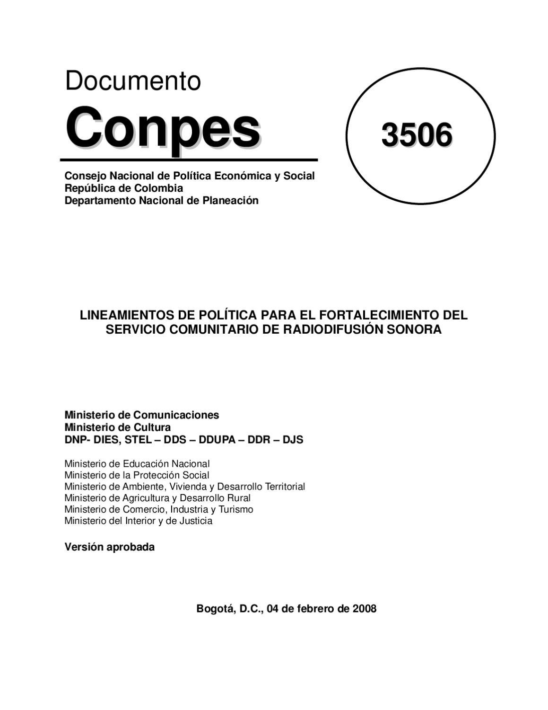 Documento conpes 3508 de 2008 by periodismo de hoy red de Logo del ministerio de interior y justicia