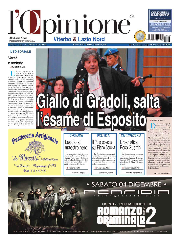 L'Opinione di Viterbo e Lazio nord - 4 dicembre 2010 by ...