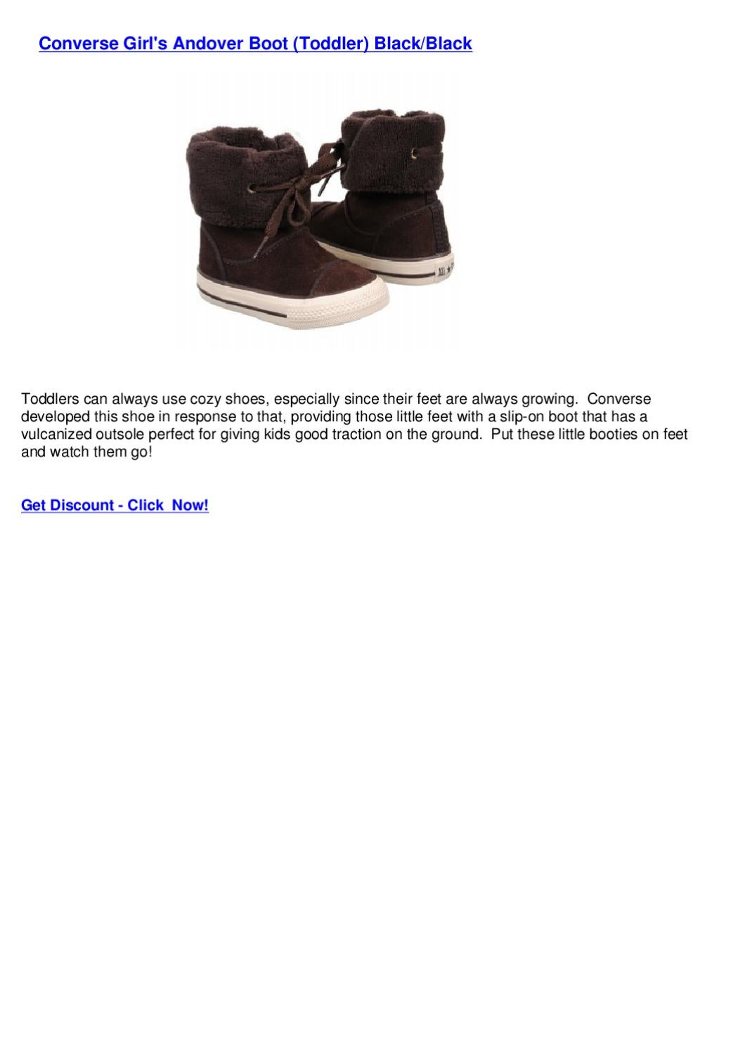 cb7aeb64a137f1 Converse Girl s Andover Boot (Toddler) BlackBlack by Conword Shoess - issuu