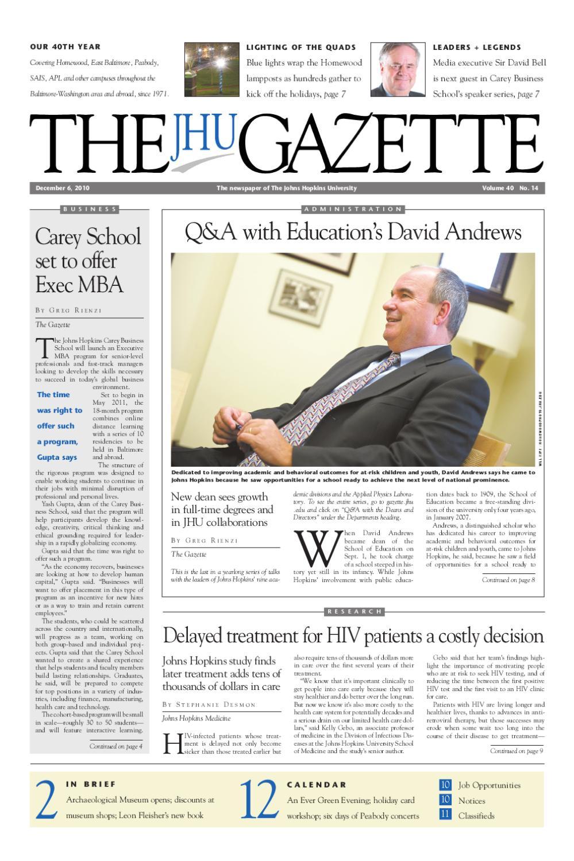 The Gazette By The Johns Hopkins University Issuu