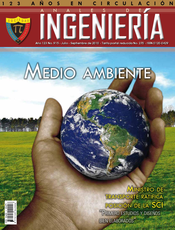 REVISTA ANALES DE INGENIERIA by SOCIEDAD COLOMBIANA DE INGENIEROS ...