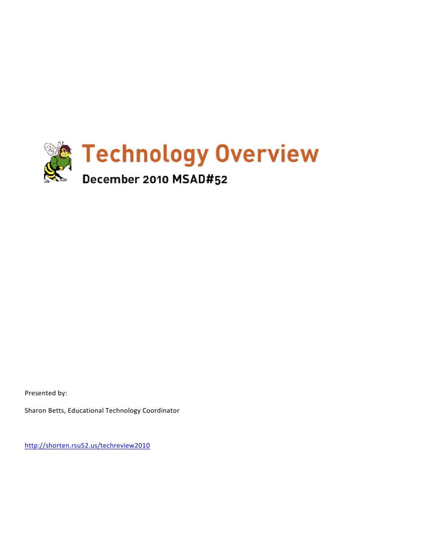 MSAD52 2010 Tech Update by Sharon Betts - issuu