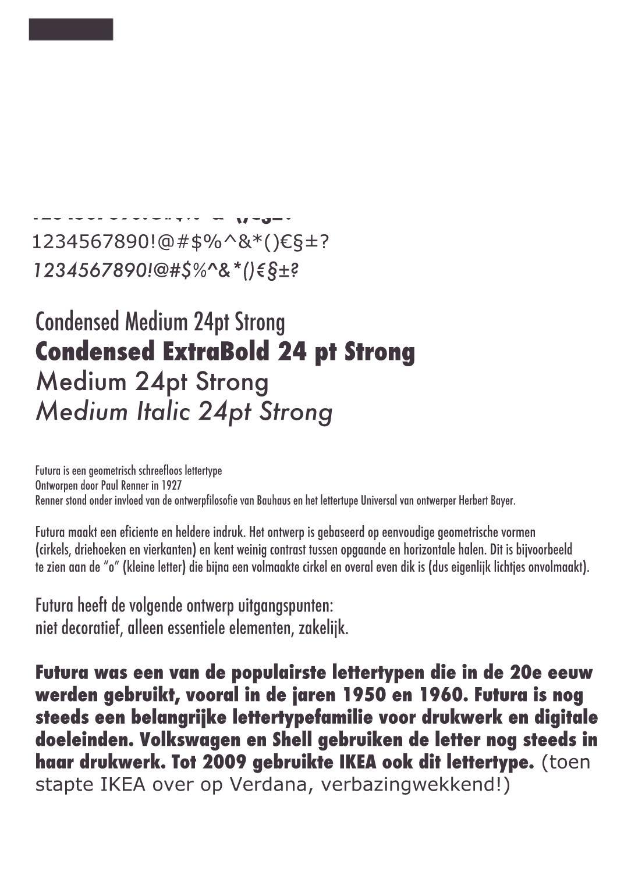 font Futura by Ellen van Leeuwen - issuu