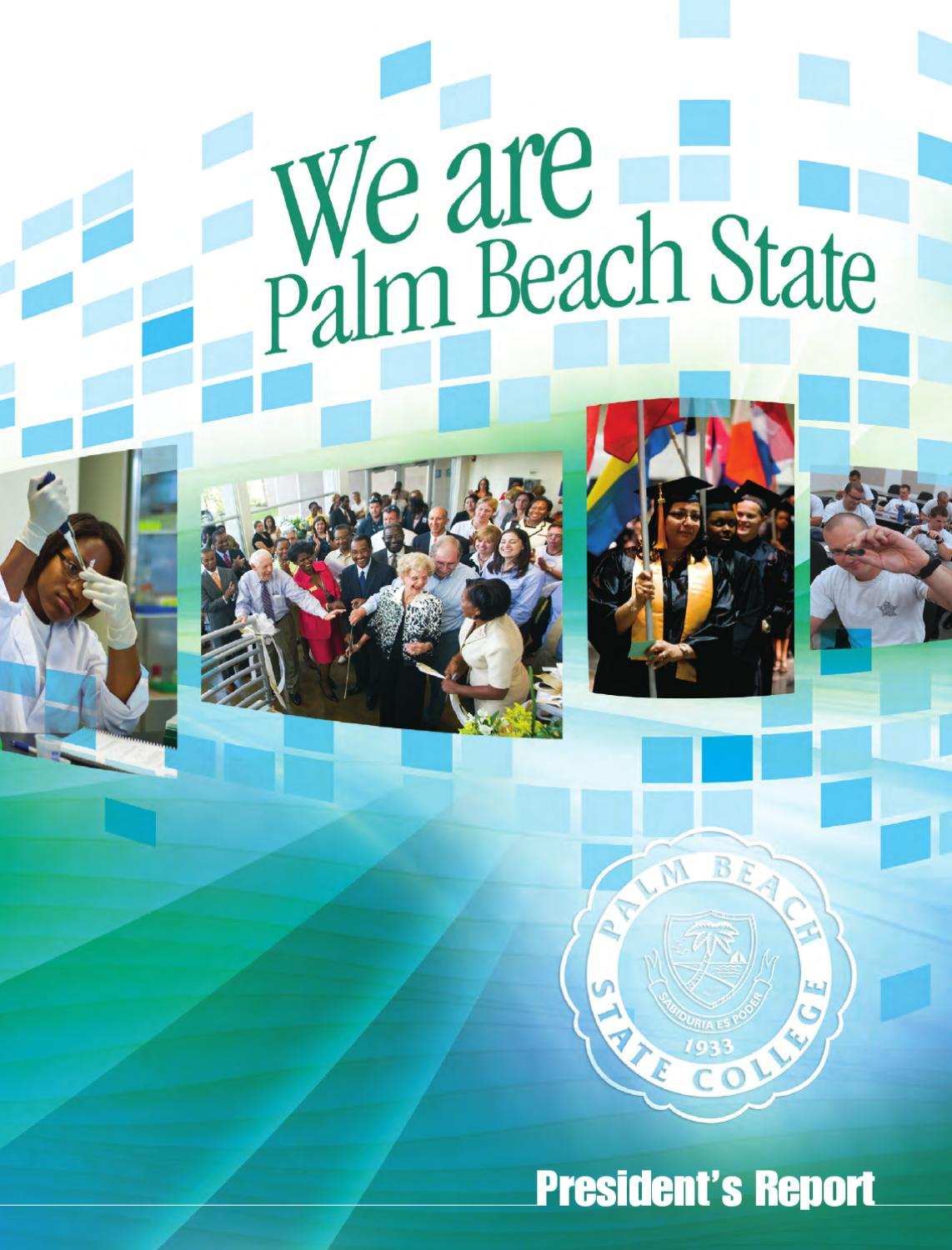 President's Report By Palm Beach State College