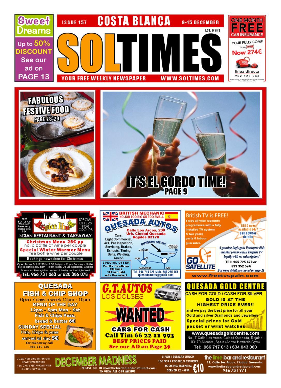 Sol Times Newspaper Issue 157 Costa Blanca Edition By Nigel