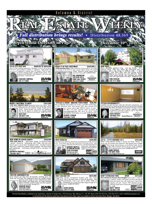74a9842d2 Kelowna Real Estate Weekly 10 December 2010