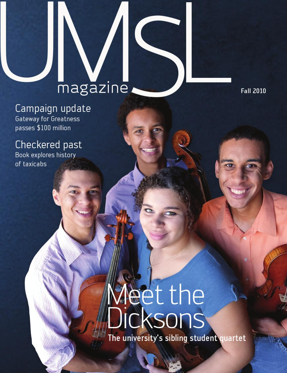 St Louis Taxi >> UMSL Magazine: fall 2010 by University of Missouri–St. Louis - Issuu