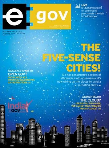 THE FIVE-SENSE-CITIES! - December 2010 by eGov Magazine