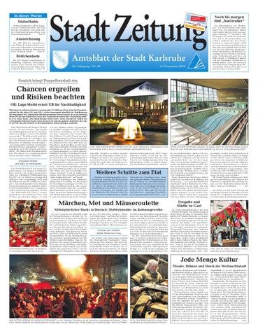 Stadtzeitung Karlsruhe, Ausgabe 49 by Röser Media - issuu
