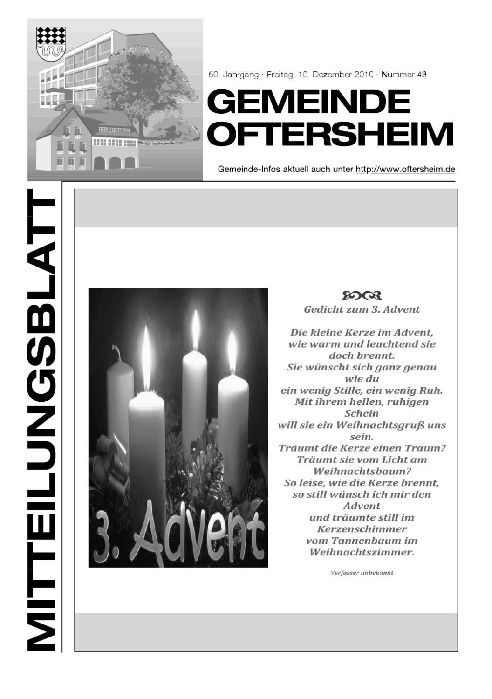 2010-49 Mitteilungsblatt - Gemeinde Oftersheim by Gemeinde ...