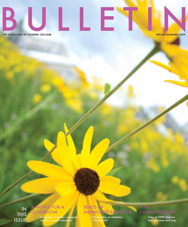 Bulletin summer 2009 by Goshen College - issuu