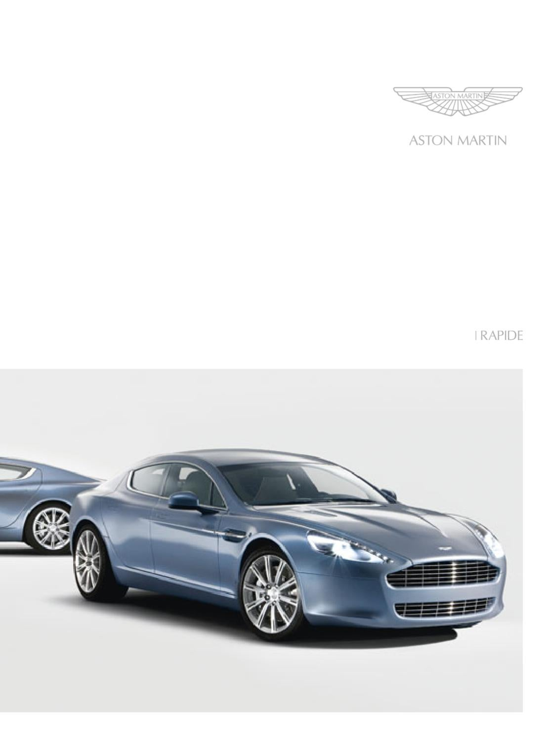 2011 aston martin rapide brochure eng by ted sluymer issuu. Black Bedroom Furniture Sets. Home Design Ideas