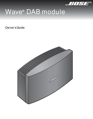 bose manual by david horton issuu rh issuu com Bose Radio CD Player Manual bose wave radio cd awrc-1g user manual