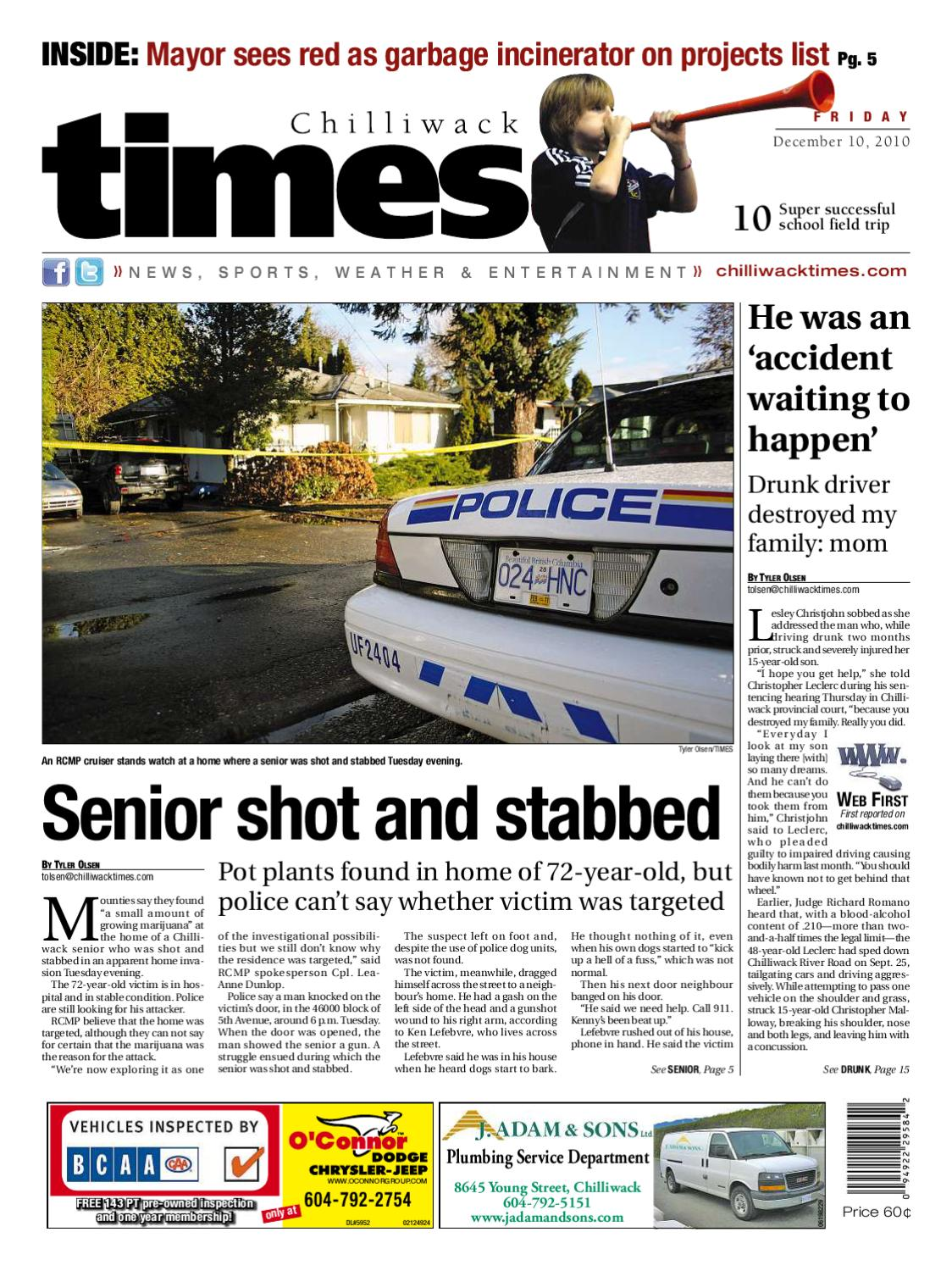 3ec616954c1 Chilliwack Times December 10 2010 by Postmedia Community Publishing - issuu