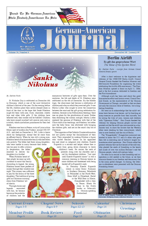 German-American Journal   December \'08/January \'09 by DANK - German ...
