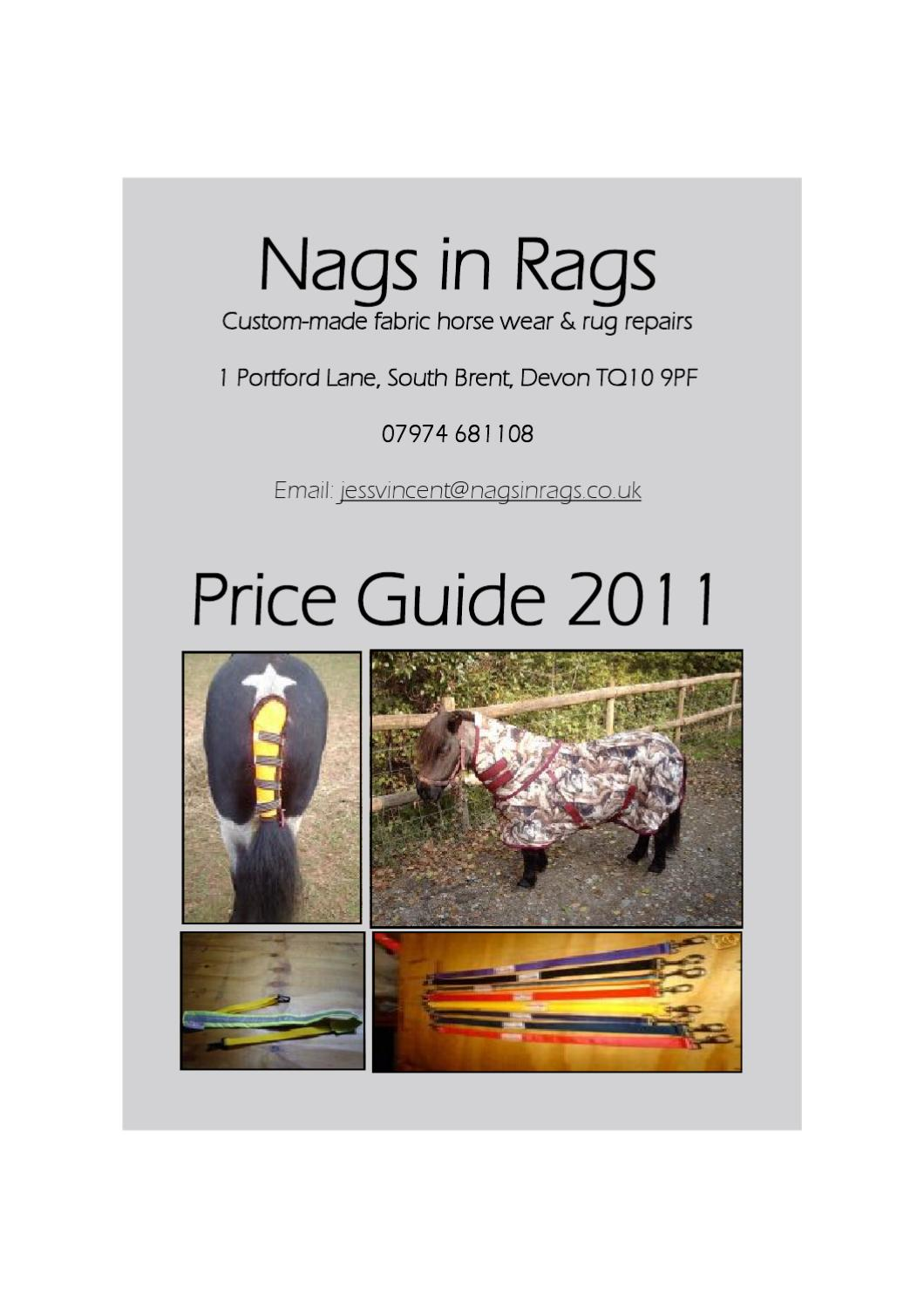 Nags In Rags 2016 Price List By Jess