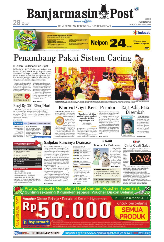 Banjarmasin Post Edisi Senin 13 Desember 2010 by Banjarmasin Post - issuu 30cd3e391f