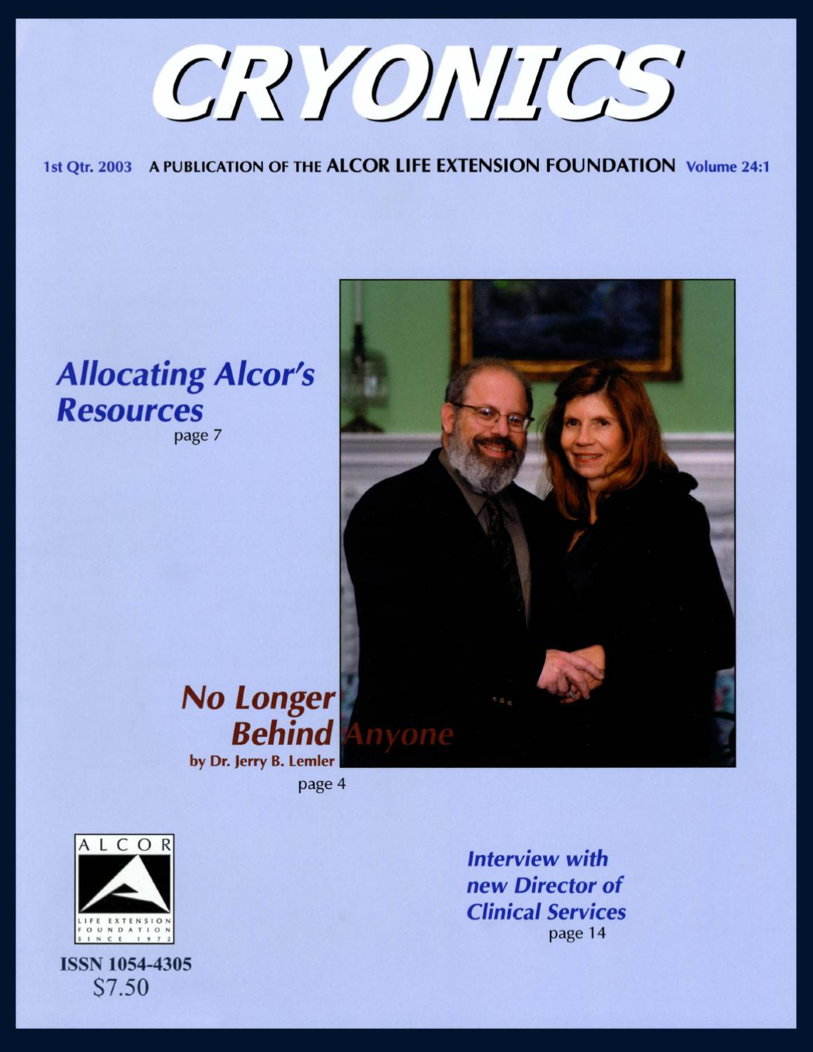 Cryonics Magazine 2003 1 By Alcor Life Extension Foundation Issuu Wiring A Power Inverter Http Larentsbiz Rentals Tenantinfohtml