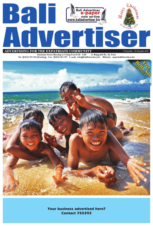 Ba 15 Dec 2010 By Bali Advertiser Issuu Lgs Slim Fit Youth Boy Giant Leap Merah Xl