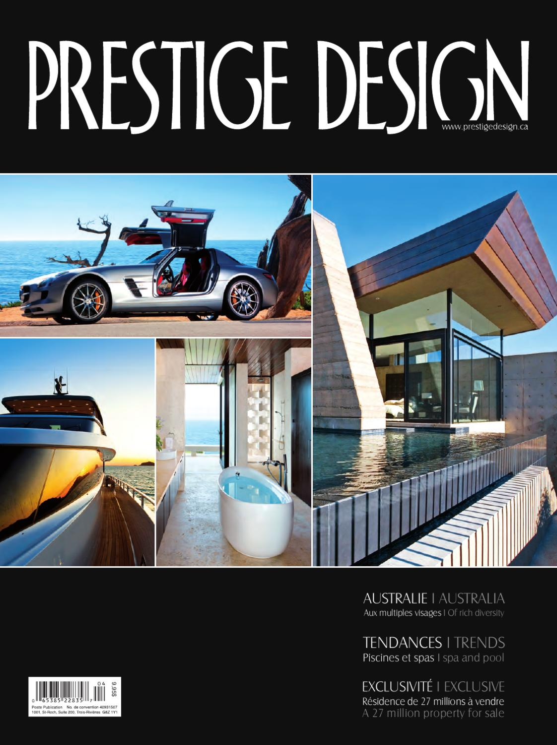 Prestige design magazine vol 7 num 4 by prestige design for Meubles montreal decarie