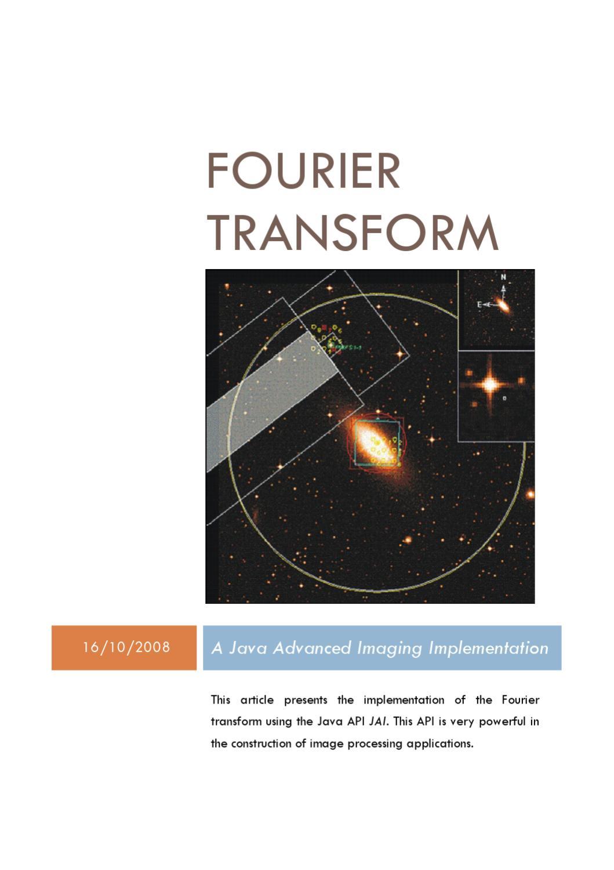 Fourier transform a java advanced imaging implementation by jose fourier transform a java advanced imaging implementation by jose miranda issuu baditri Images