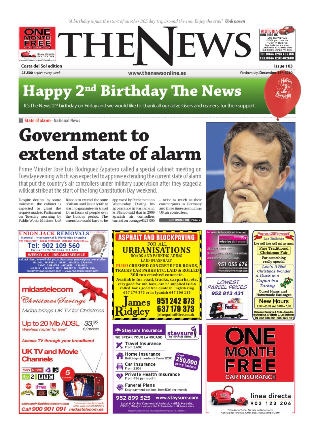 2570f47e34 The News Newspaper - Issue 103 - (Date 15th December 2010) by The ...