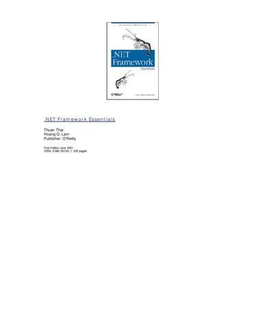 Oreilly  Net framework essentials by Dmitry Ushakov - issuu