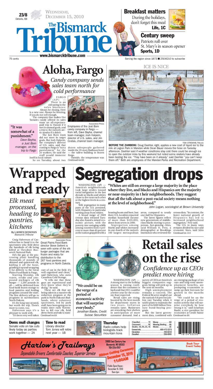 Bismarck Tribune - Dec. 15, 2010 by Bismarck Tribune - issuu 335baad7343