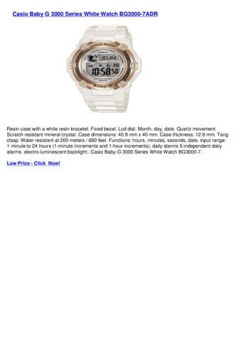 4b57cb5938dc Casio Baby G 3000 Series White Watch BG3000-7ADR