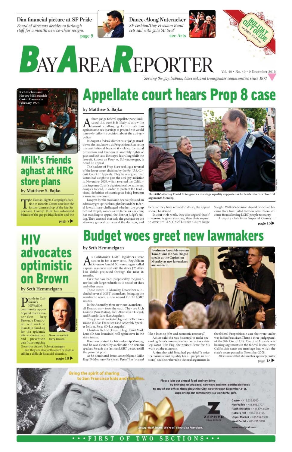 December 9, 2010 Edition of the Bay Area Reporter by Bay Area Reporter -  issuu