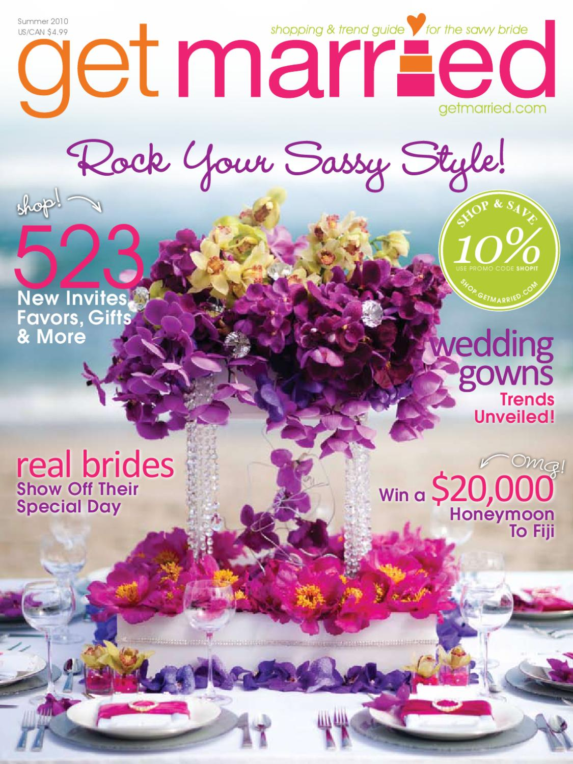 Get Married Magazine Summer 2010 By Media