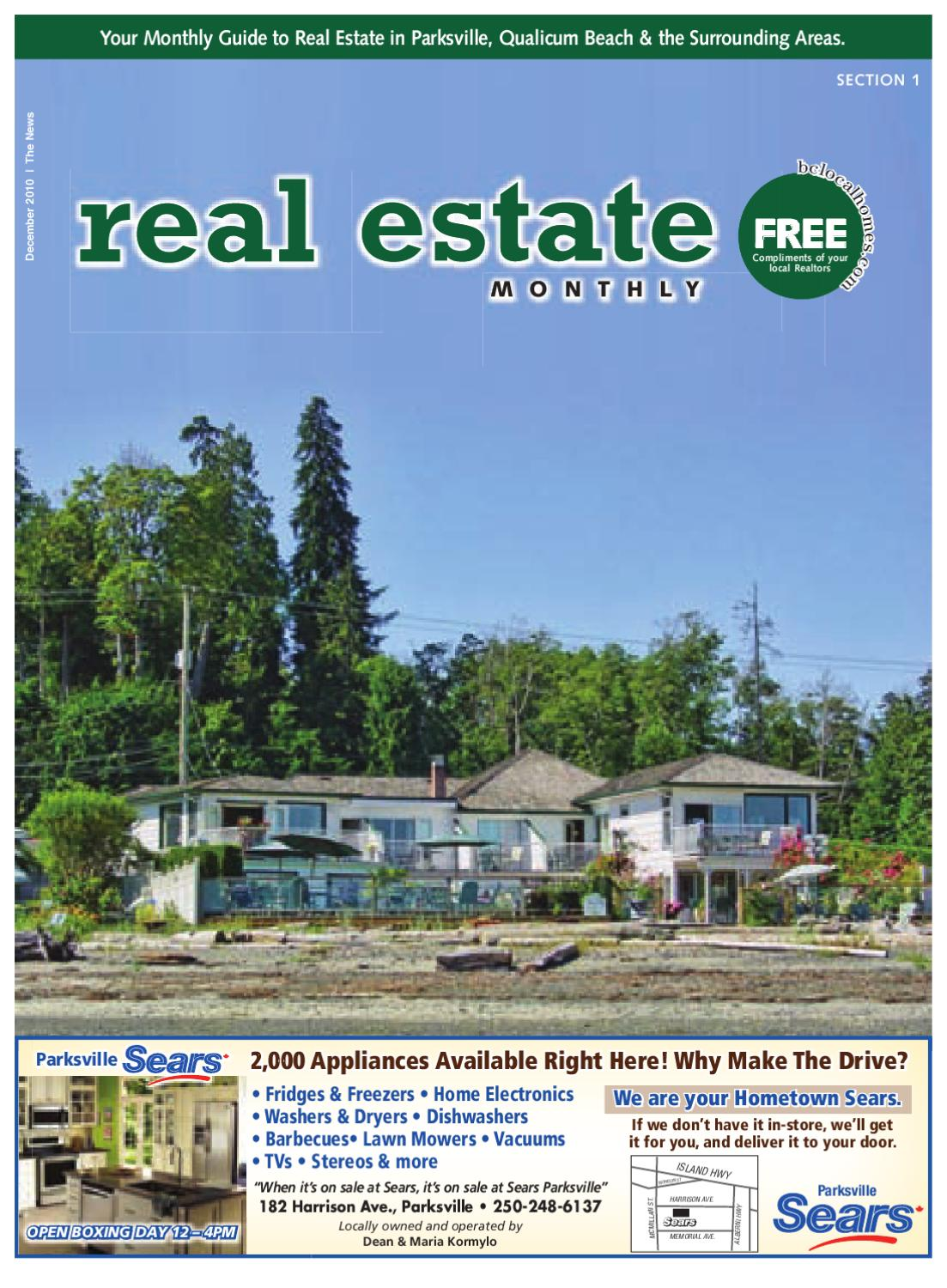 Parksville Qualicum Monthly Real Estate by