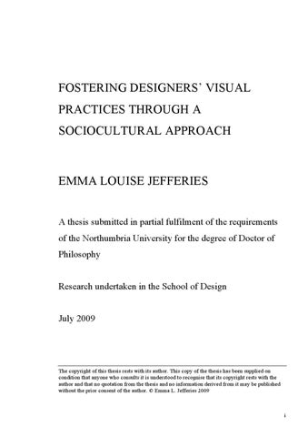 a thesis submitted in fulfilment of the requirements for the degree of doctor of philosophy