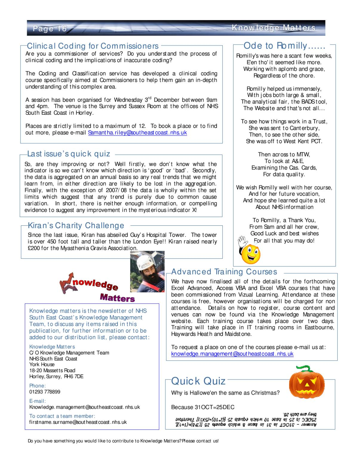 Knowledge Matters Volume 2 Issue 4 by South, Central and